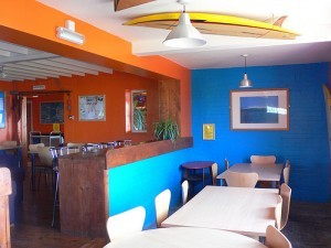 Dining area at Treyarnon Youth Hostel