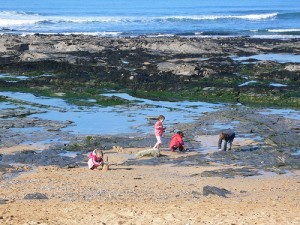 Rock pools at Constantine bay