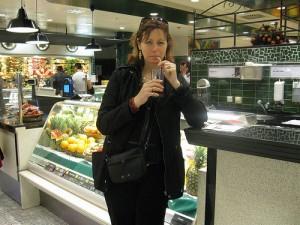 Fruit smoothies at KaDeWe department store in Berlin