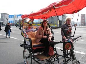Sightseeing by rickshaw in Berlin