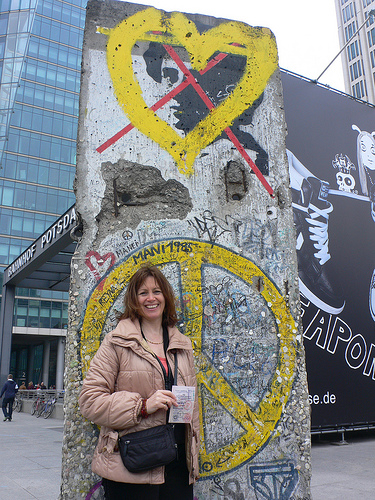 With my East German Visa near Potsdamer Platz