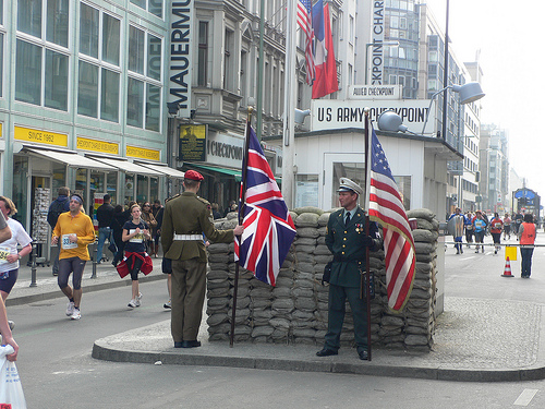 Checkpoint Charlie on Berlin