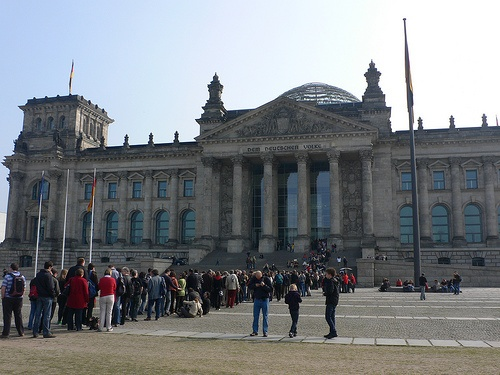 The queue to see the Reichstag Dome
