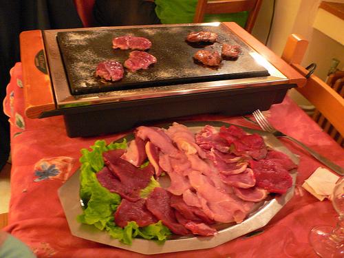 Savoyard speciality or Pierrade