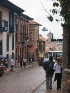 The streets of Bogota