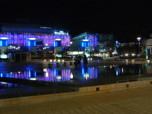 Millenium Square in Bristol at Night