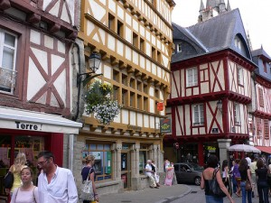Old Town in Vannes, Brittany