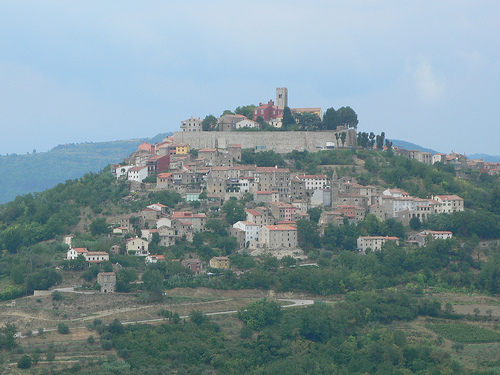 Motovun in Istria in Croatia