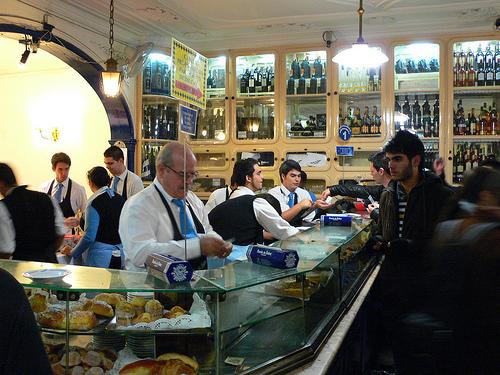 In the Pasteis de Belem shop in Lisbon
