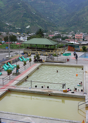 Thermal baths in Banos, Ecuador