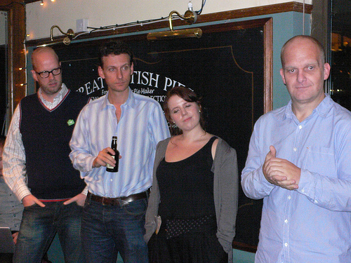 Sponsors Alberto, Hugo, Zoe and Chris at Travel Blog Camp 09