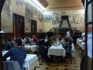 Dining room at Casa do Alentejo in Lisbon