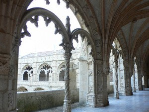 Cloisters at the Monastery of St Jeronimus in Lisbon