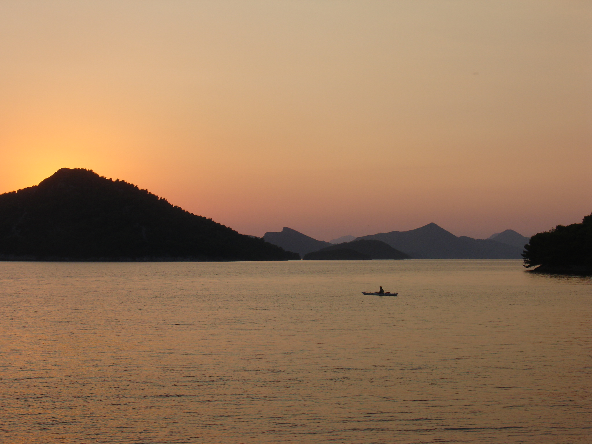 Sunset on Sipan Island in Croatia