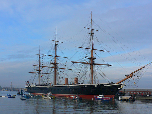 HMS Warrior at the Historic Dockyards at Portsmouth