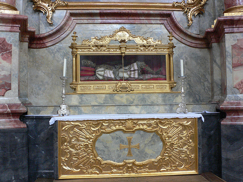 Body of Archbishop Clemens, founder of Michaelkirche at Berg am Laim