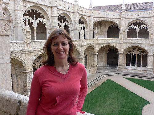 The Cloister of the Monastery of Jeronimus in Lisbon