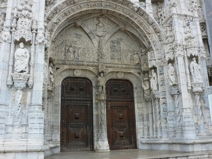 Doorway of the Monastery of Jeronimus in Lisbon