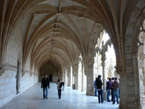 Cloisters of Monastery of Jeronimus in Lisbon