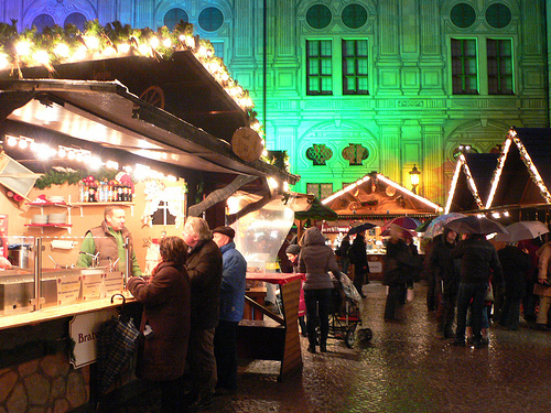 The Christmas Market in the Residenz Courtyard in Munich