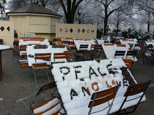 Peace and Love in the Hofgarten in Munich