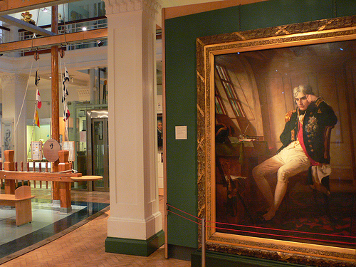 Portrait of Nelson at the Historic Dockyards Museum, Portsmouth