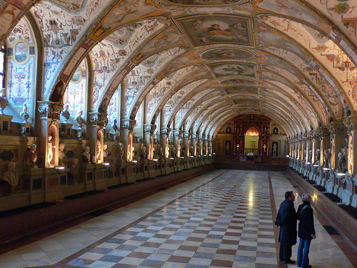 The Antiquarium in the Residenz in Munich