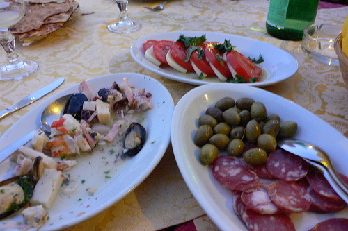 Antipasto in Sardinia