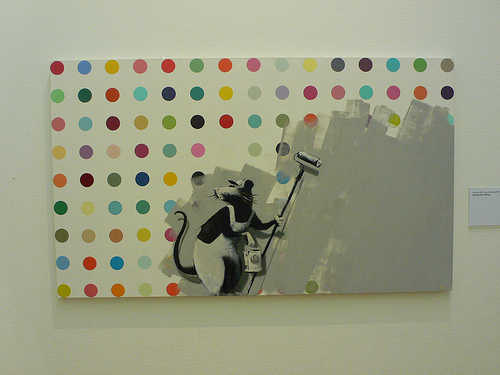 Banksy take on Damien Hurst