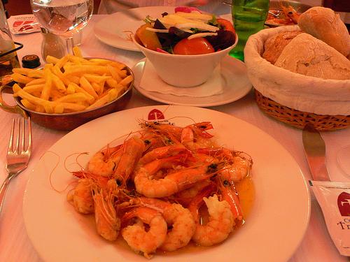 Seafood at Cervejaria Trinidade in Lisbon