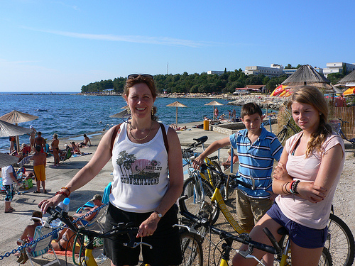 Cycling by the sea in Istria, Croatia