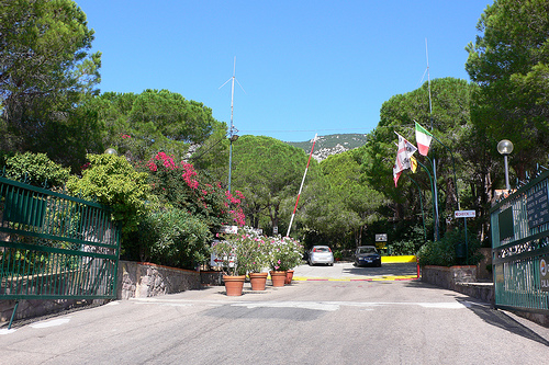 Entrance to Camping Cala Genone, Sardinia