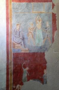 Medieval frescos at Orosei in Sardinia