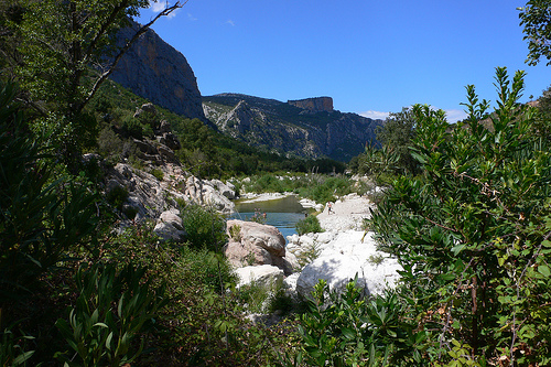 River near Gola di Gorroppu in Sardinia