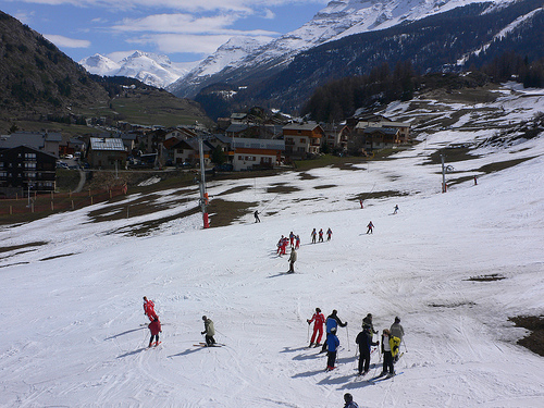 Ski-ing at Val Cenis in France at Easter