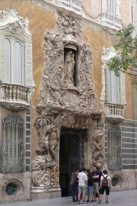 Entrance  in the Ceramics Museum in Valencia