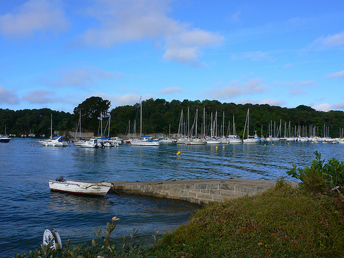 The Marina at Conleau near Vannes in Brittany