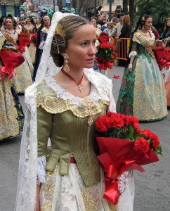 Female members of the association called Falleras