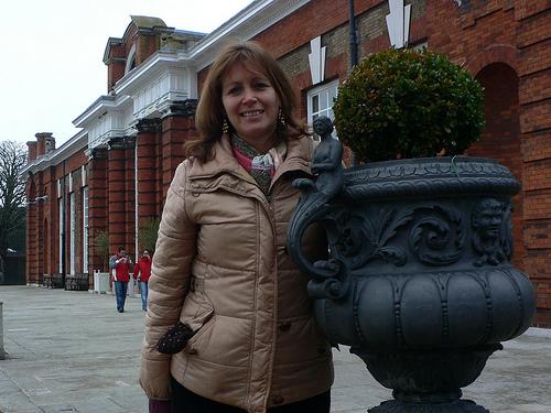Outside the Orangery at Kensington Palace