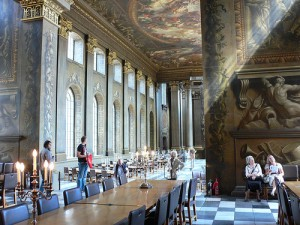 The Painted Hall at the Old Royal Naval College, Greenwich