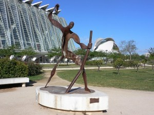 Sculpture in the city of Arts and Sciences