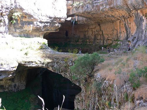 Baatara Pothole, near Tannourine in Lebanon