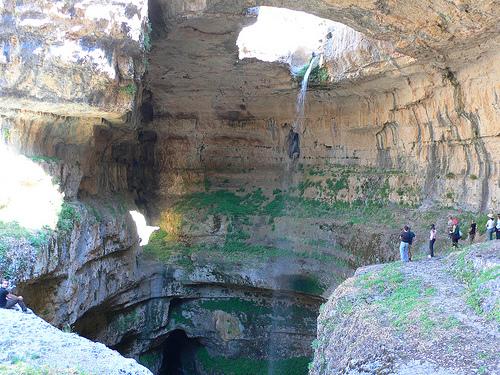 Baatara pothole, near Tannourine, Lebanon