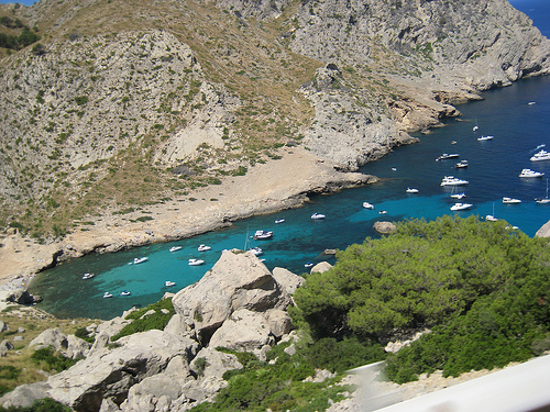 The bay at Cala Figuera, Mallorca