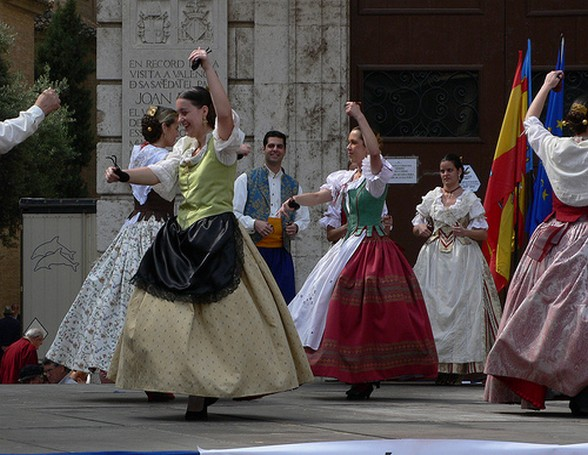 Dancers in the Plaza de la Virgin