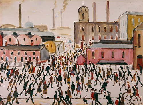 LS Lowry, Going to Work, 1959, The Lowry Collection, Salford