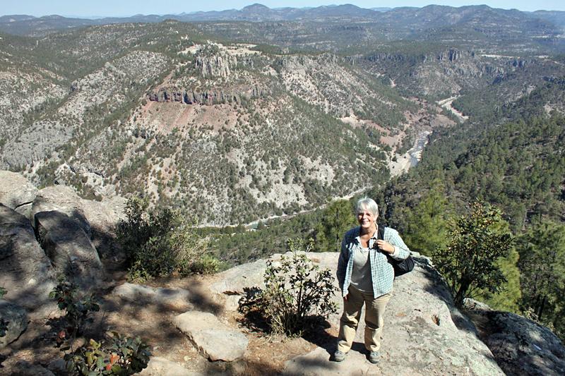 Barbara Weibel at Copper Canyon, Mexico