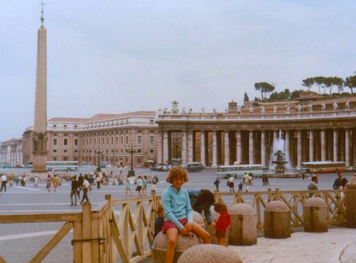 Heather as a child visiting Rome