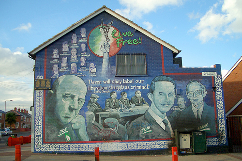 Live Free Mural in Belfast