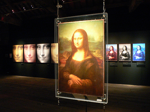 Replica of the Mona Lisa at MOSI in Manchester